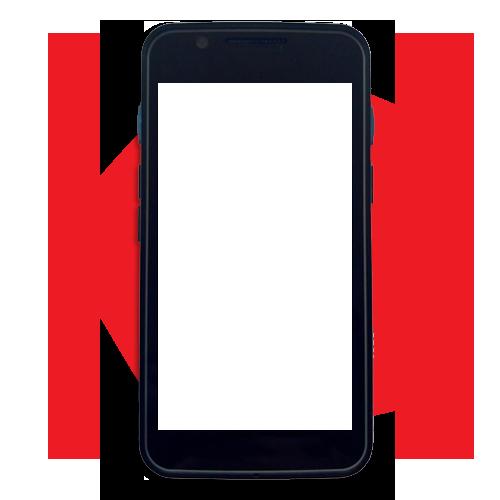 Imagem Celular Vermelho em Branco