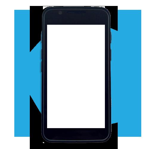 Imagem Celular Azul em Branco