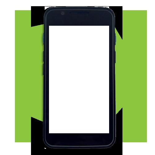 Imagem Celular Verde em Branco